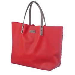 MARC and ANDRE - RED SIL - BEACH BAG