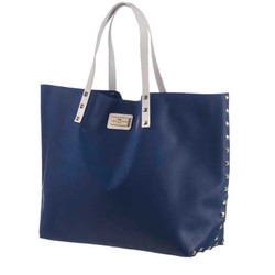 MARC&ANDRE - DARK BLUE SIL - BEACH BAG