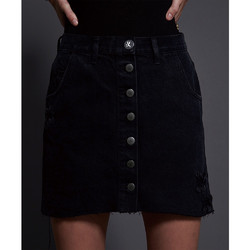ONETEASPOON - DOUBLE BLACK VIPER HIGH WAIST - DENIM MINI SKIRT