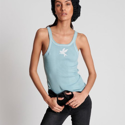 One Teaspoon - Ash Blue Bower Bird - Singlet